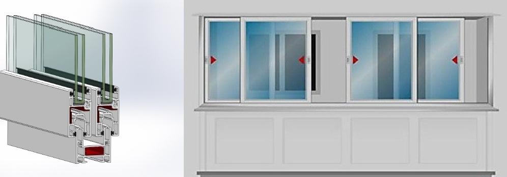 Раздвижные пластиковые окна для балкона большая нагрузка..